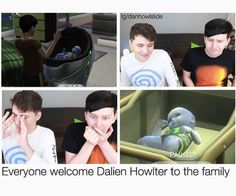 """Dailen's adorable <3 I just hope Dan and Phil don't screw up and """"accidentally"""" send him to his """"home planet"""""""