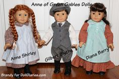 Anne of Green Gables Doll Characters   Doll Diaries - make over AG dolls into favorite Anne characters