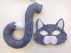 Me-WOW! The NEW Cat Mask will make you purr! Opposite of Far Masks and Tails are made from layers of Wool Blend Felt and Eco Felt to ensure a