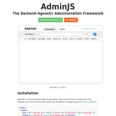Ember tool for managing dbs. Tech agnostic. http://adminjs.com/