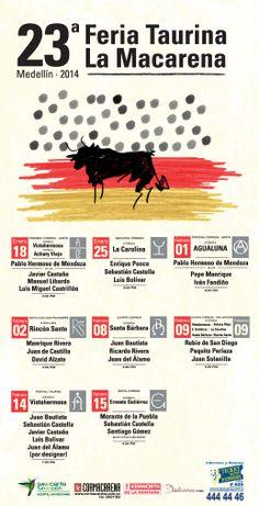 Medellin 2014, Cartel Feria Taurina DE LA MACARENA