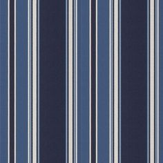 Eastcliff Stripe - Navy - Blue & White - Fabric - Products - Ralph Lauren Home - RalphLaurenHome.com