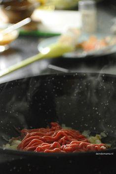 Orak arik - de Indomama Gado Gado, Tofu, Steak, Good Food, Lunch, Indian, Egg As Food, Cattle, Eat Lunch