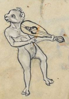 "Detail from ""The Rutland Psalter"", medieval (c1260), British Library Add MS 62925. f 54v"