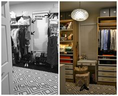 Life & Home at 2102: Master Closet BEFORE & AFTER
