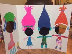 Image result for Troll themed crafts for preschooler birthday party