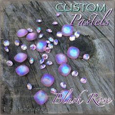Swarovski's 4470 Blush Rose crystal is Custom Coated with E. Ashley's Custom Pastel Effect Swarovski Stones, Blush Roses, Spring Summer 2016, Lampwork Beads, Pastels, Delicate, Bling, Buttons, Pearls