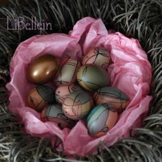Osternest aus Verpackungsmaterial / Easter nest made of wrapping paper / Upcycling