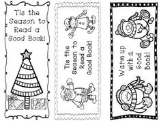 Winter Bookmarks Freebie! Let students color and take home to remind them to read over winter break.