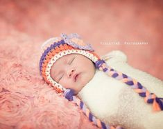 Newborn Girl Hat Knit Baby Flower Beanie Knit Baby Hat Baby
