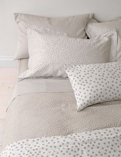 Dotty, Coffee Cream Bedding Set.bed linen