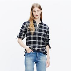 Flannel Ex-Boyfriend Shirt in Rutherford Plaid : AllProducts   Madewell