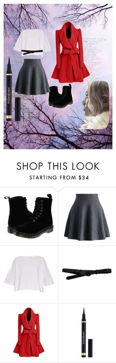 """""""hey cam """" by devin-10 on Polyvore featuring Dr. Martens, Chicwish, Helmut Lang, Lowie and Yves Saint Laurent"""