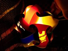 Iron Man Star Shaped Puzzle Lamp by GetLightMe on Etsy
