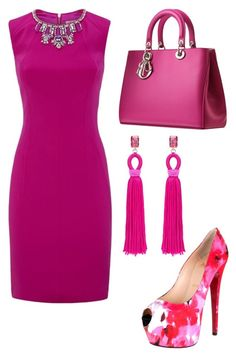 """Untitled #25574"" by edasn12 ❤ liked on Polyvore featuring Ted Baker, Christian Louboutin and Oscar de la Renta"