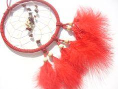 Roter Jaspis - Splitter - im roten Traumfänger von Traumnetz-com :  Traumfänger, Schmuck, Bilder auf DaWanda.com