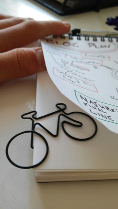 Bicycle paperclip... Coool