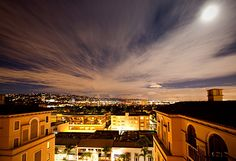 Full moon night view from Montage Beverly Hills.