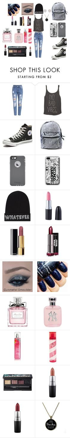 """""""i love it more"""" by princessofdarkness-02 on Polyvore featuring Billabong, Converse, OtterBox, Local Heroes, Chanel, Christian Dior, Pink Sugar, NARS Cosmetics, MAC Cosmetics and River Island"""
