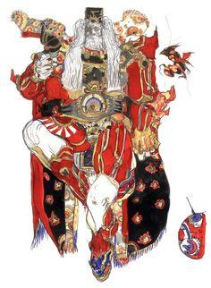 Yoshitaka Amano - Emperor Gestahl - Final Fantasy VI