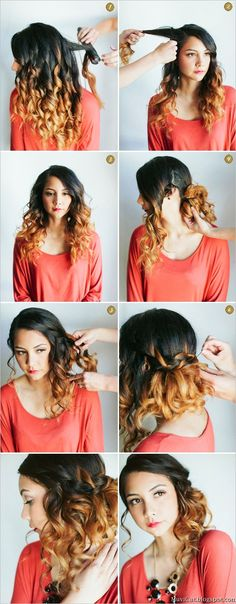 MuviCut - Fashion blog: Curly Side Waterfall Braid: Hair Do