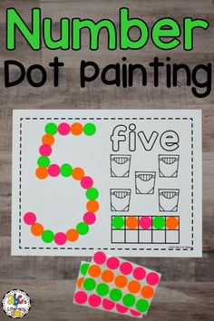 These Number Dot Painting Worksheets are a hands-on way for children to practice identifying numbers and counting. This Bingo dauber activity will help them develop their fine motor skills too. These no-prep, dab it worksheets can be used as a quick, easy math center or as an independent activity for early finishers. This set includes numbers zero through twenty. Zero through nineteen have the number to paint, number word, a school supply to color, and a ten frame. #numberdotpaintingworksheets
