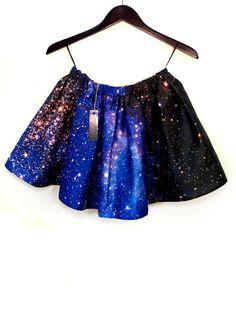 Small Magellanic Cloud Hubble Print Space Skirt by shadowplaynyc, $120.00