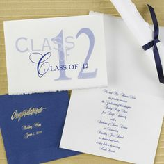 Traditional White Parchment Announcement with Front Design Choice
