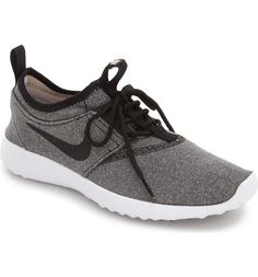 Currently obsessing over these ultra cool grey and black Nike running shoes.