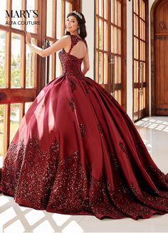 Couture Dresses, Bridal Dresses, Fashion Dresses, Lace Dress, Lace Corset, Dress Prom, Prom Dresses, Burgundy Quinceanera Dresses, Mary's Bridal