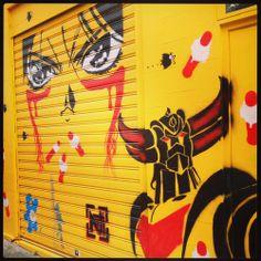 Goldorak - Streetart
