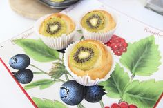 NZ kiwi fruit muffin cupcakes - Today I decided to bake these lovely kiwifruit muffins. I love kiwifruit and so naturally a kiwifruit muffin was the ideal breakfast with a hot cup of tea. Please visit appetizergirl.com