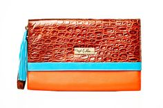 The Tate - http://rockandherr.com  Leather clutch
