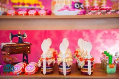 Lalaloopsy themed birthday party via Kara's Party Ideas KarasPartyIdeas.com Recipes, cakes, cupcakes, printables, favors, and more! #lalaloopsy #lalaloopsyparty #karaspartyideas (20)