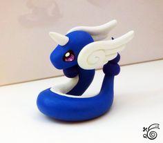 Chibi Dragonair (Pokemon) made of Sculpey Clay