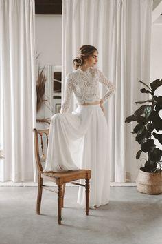 Wedding Outfits For Women, Civil Wedding Dresses, Wedding Suits, Casual Wedding Dresses, Casual Bride, 2 Piece Wedding Dress, Boho Wedding Dress, Gala Dresses, Bridal Dresses