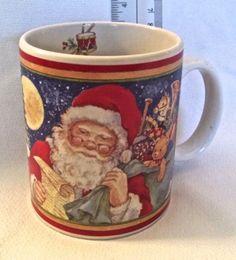 1999-JCPenney-Certified-International-Santa-Reindeer-Sleigh-Betty-Whiteaker-Mug