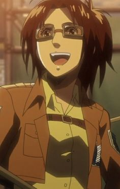 Hanji is one of my favorite characters Hanji Attack On Titan, Tales Of Zestiria, My Kind Of Woman, Levihan, Soul On Fire, Titans Anime, Smile Because, Me As A Girlfriend, Anime Love