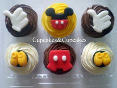 Mickey Mouse Cakes And Cupcakes | Mickey Mouse Cupcakes - Cupcakes&Cupcakes Chile