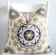 Decorative pillow cover  Throw pillow  Suzani by chicdecorpillows, $65.00