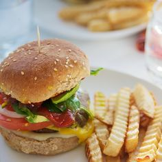 Portabella Mushroom Burger (going to try it on a sandwich thin bun and baked fries).