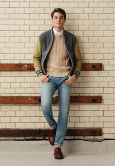 cable knit and varsity