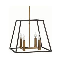 FREE SHIPPING. Purchase the Aged Zinc Fulton by Hinkley for your foyer lighting today at lightingconnection.com. Also Available in bronze with brass. Hinkley 3334DZ