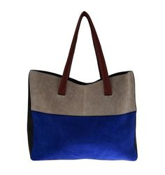 Narciso Rodriguez Suede Tote: Color Block, Open Mind