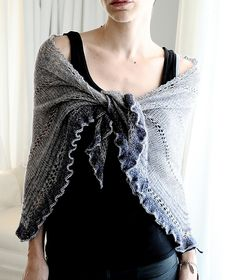 Ravelry: NoFa Shawl pattern by La Maison Rililie...  This pattern looks so cool that I just had to buy it!
