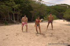 Enjoy and have fun playing volleyball at Sepoc beach Center Eagle Point Resort batangas Beach Resort #beachresort #hotelaccommodation #familygetaway