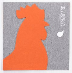Felt Rooster to decorate walls and surfaces // di GiobiMood