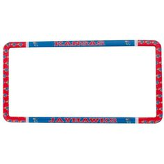 Stockdale Kansas Jayhawks Thin Rim License Plate Frame ($13) ❤ liked on Polyvore featuring team color