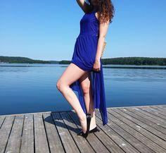 Asymetryczna sukienka   letni look