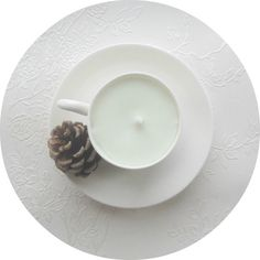 ♥♥♥ White Espresso Cup Candle - Minimalist Design - Coconut Soy Candle This is a hand-poured 100% vegan soy candle in an elegant espresso cup with beautiful detailing on the handle. The original cup has been produced in Staffordshire, England. It measures 8cm across (inc handle) is 5cm in diameter and 6.5cm high. Each cup weighs 130g This minimal look is on trend right now.. after use it can be used again either as a stylish espresso cup for those lazy weekend coffees or it can be a…
